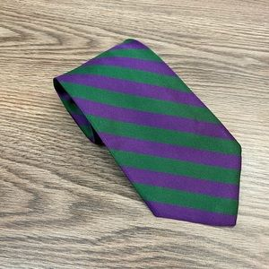 Brooks Brothers Purple & Green Stripe Tie